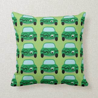 My Car Is Smart Throw Pillows