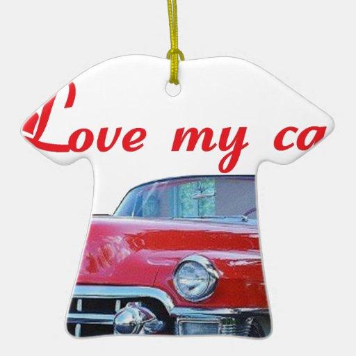 MY CAR.png Adorno Navideño De Cerámica En Forma De Playera