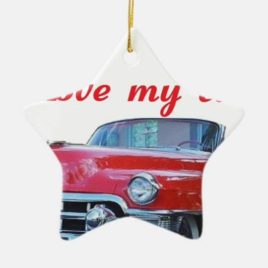 MY CAR.png Ceramic Ornament