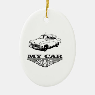 my car solid steel ceramic ornament