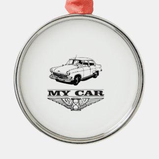 my car solid steel metal ornament