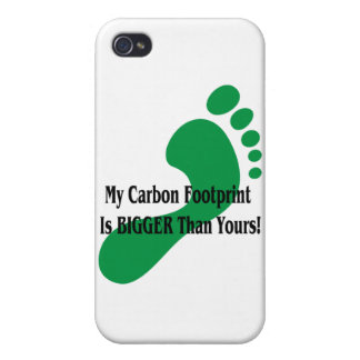 My Carbon Footprint Is BIGGER Than Yours! iPhone 4/4S Cases