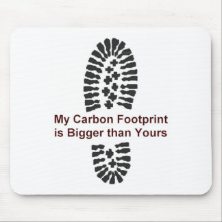 My Carbon Footprint Mouse Pad
