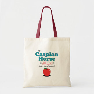 My Caspian Horse is All That! Funny Horse Budget Tote Bag
