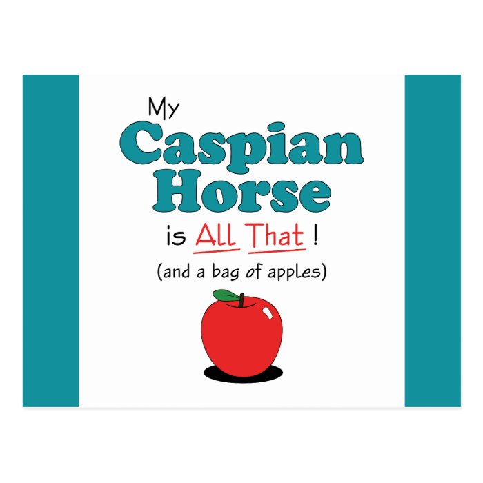 My Caspian Horse is All That! Funny Horse Postcard