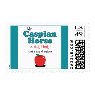 My Caspian Horse is All That! Funny Horse Stamp