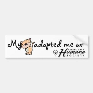 My cat adopted me at bumper sticker