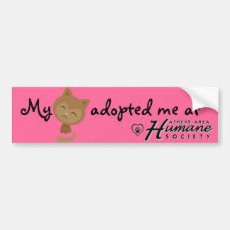 My cat adopted me bumper sticker car bumper sticker