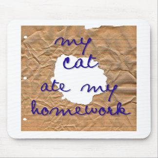 My Cat Ate My Homework Mousepad