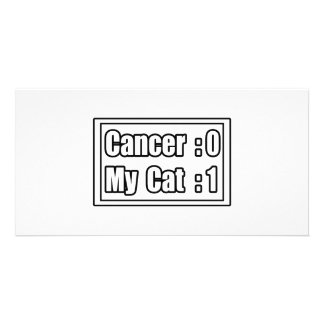 My Cat Beat Cancer (Scoreboard) Photo Card