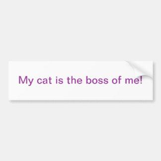 My cat bumper sticker