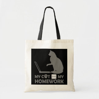 My cat deleted my homework tote bags