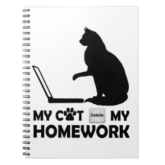 My cat deleted my homework spiral notebook