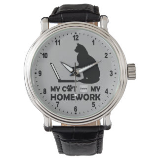 My cat deleted my homework wristwatch