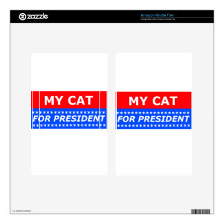 My Cat For President Decals For Kindle Fire