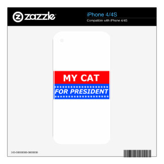 My Cat For President iPhone 4 Skin