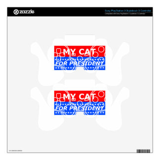 My Cat For President PS3 Controller Decals