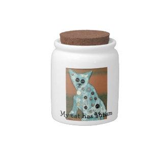 My Cat has Autism Treat Jar Candy Jars