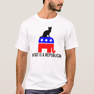 My cat is a republican funny T-shirts