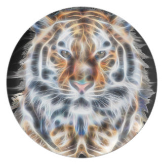 My Cat is Acting Up Tiger facial Energy Melamine Plate