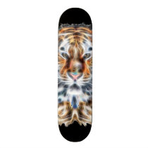 My Cat is Acting Up Wild Tiger Energy Skateboard Deck