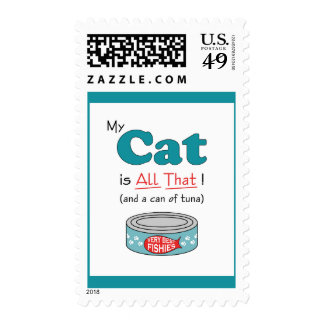My Cat is All That! Funny Kitty Stamp