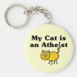 My Cat Is An Atheist Key Chain