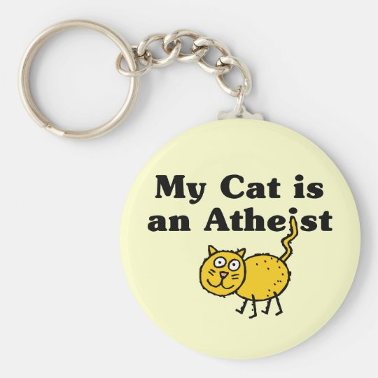 My Cat Is An Atheist Keychain