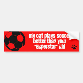 My cat is better than your kid! bumper sticker