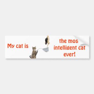 My cat is... bumper sticker