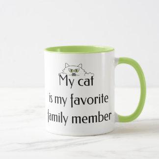 My Cat is My Favorite Family Member Mug