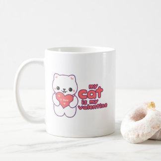 My Cat is my Valentine Coffee Mug