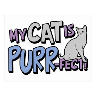 My Cat Is Purr-fect Postcard
