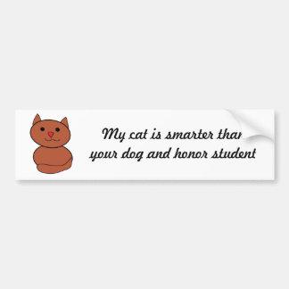 My Cat is Smarter Bumper Sticker Car Bumper Sticker