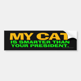 My Cat Is Smarter Than Your President Bumper Sticker