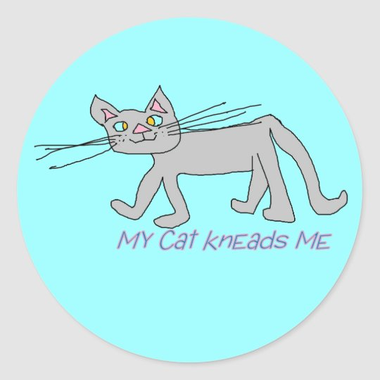 my cat kneads me stickers