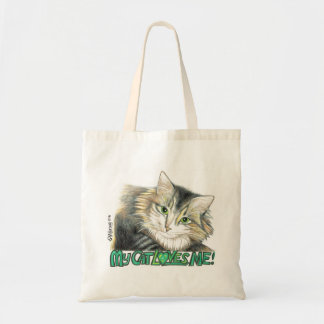 MY CAT LOVES ME copyright 1999 SylviART bag