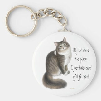 My Cat Owns This Place Keychain