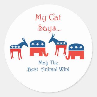 My Cat Says...Round Sticker