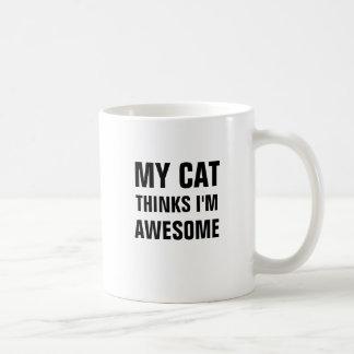 My cat thinks i'm awesome mug