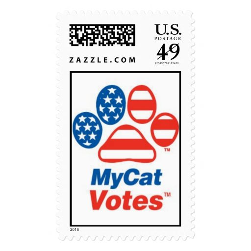 My Cat Votes In The USA! Postage Stamps