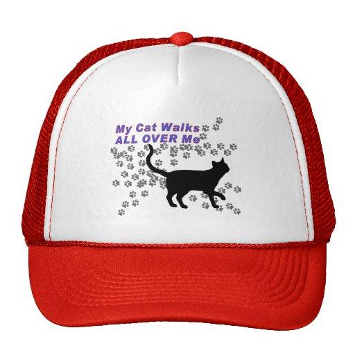 My Cat Walks All Over Me Trucker Hat