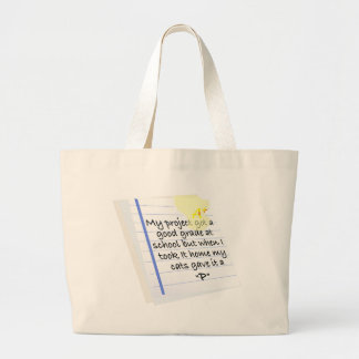 """My Cats Gave It A """"P"""" Large Tote Bag"""