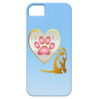 My cat's own signature on my heart -iPhone 5 case