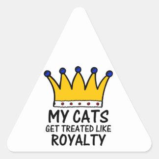 My Cats Triangle Sticker