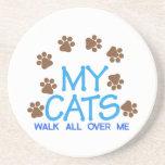 My Cats Walk Beverage Coaster