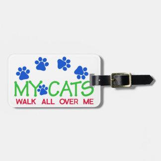 My Cats Walk Luggage Tag