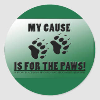 My Cause is for the Paws! Classic Round Sticker