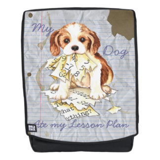 My Cavalier Ate My Lesson Plan Backpack