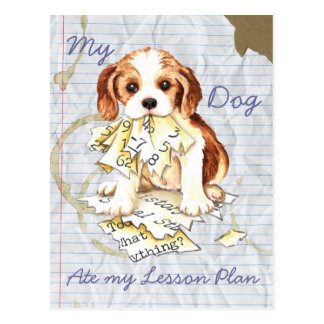My Cavalier Ate My Lesson Plan Post Cards